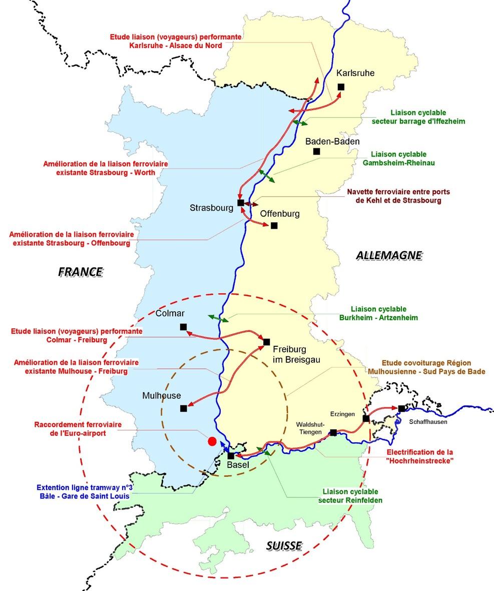 Karte der AG Verkehr (C DREAL Alsace)